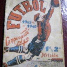 Coleccionismo deportivo: LIBRITO CALENDARIO FUTBOL .CAMPEONATO DE LIGA 1948 - 49 . RICARDO BIOSCA. . Lote 128768055