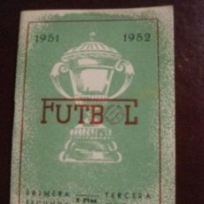 Sports collectibles - calendario futbol campeonato de liga 1951 - 1952 . buen estado . biosca - 128768919