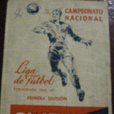 Coleccionismo deportivo: CALENDARIO CAMPEONATO NACIONAL DE LIGA . 1946 - 47 . PUBLICIDAD CINZANO DIPTICO FUTBOL. Lote 128769483