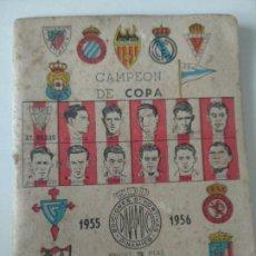 Coleccionismo deportivo: CAMPEÓN DE COPA, 1955-56. CALENDARIO. EDICIONES DEPORTIVAS DINAMICO. ZARAGOZA, 1955. Lote 128831903