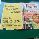 Coleccionismo deportivo: ANTIGUO CALENDARIO FÚTBOL. LIGA TEMPORADA 1947-48. VINOS HIJOS DE QUIRICO LÓPEZ DE MÁLAGA. Lote 129069743