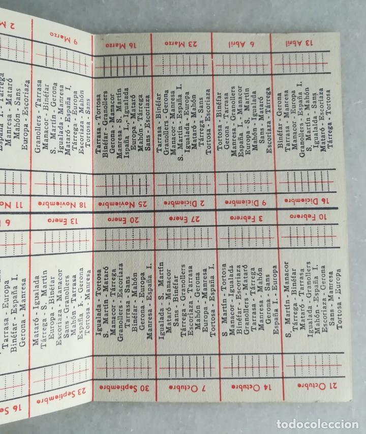 Coleccionismo deportivo: Campeonato de liga 3ª división 1951-1952. Fútbol. Calendario. Publicidad pilas Sklar - Foto 2 - 130524438