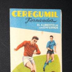 Coleccionismo deportivo: CALENDARIO FUTBOL CAMPEONATO NACIONAL DE LIGA 1ERA DIVISION - A959-60 - PUBL. CEREGUMIL. Lote 130579406