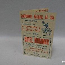 Coleccionismo deportivo: CALENDARIO NACIONAL DE LIGA 1955-56. Lote 130830920