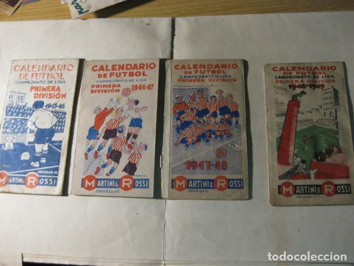 4 CALENDARIO DE FUTBOL LIGA - 1945 - 1946 - 1947 -1948 - 1949 (Coleccionismo Deportivo - Documentos de Deportes - Calendarios)