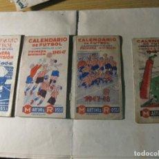 Coleccionismo deportivo: 4 CALENDARIO DE FUTBOL LIGA - 1945 - 1946 - 1947 -1948 - 1949 . Lote 132038238