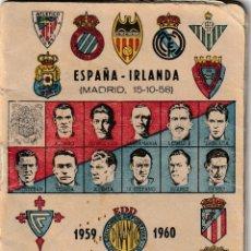 Coleccionismo deportivo: EDICIONES DEPORTIVAS DINÁMICO, CALENDARIO 1959 - 1960. Lote 132251998