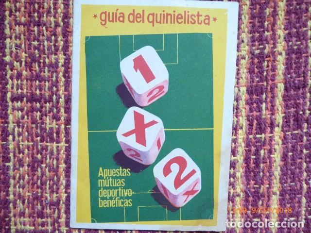 GUIA DEL QUINIELISTA DE 1962, BUEN ESTADO MANCHA ESQUINA, (Coleccionismo Deportivo - Documentos de Deportes - Calendarios)
