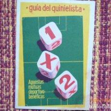 Coleccionismo deportivo: GUIA DEL QUINIELISTA DE 1962, BUEN ESTADO MANCHA ESQUINA, . Lote 132923506