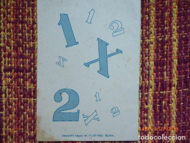 Coleccionismo deportivo: guia del quinielista de 1962, buen estado mancha esquina, - Foto 2 - 132923506