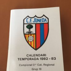 Coleccionismo deportivo: CALENDARIO FÚTBOL CF JUNEDA TEMPORADA 1982-83. Lote 133398714