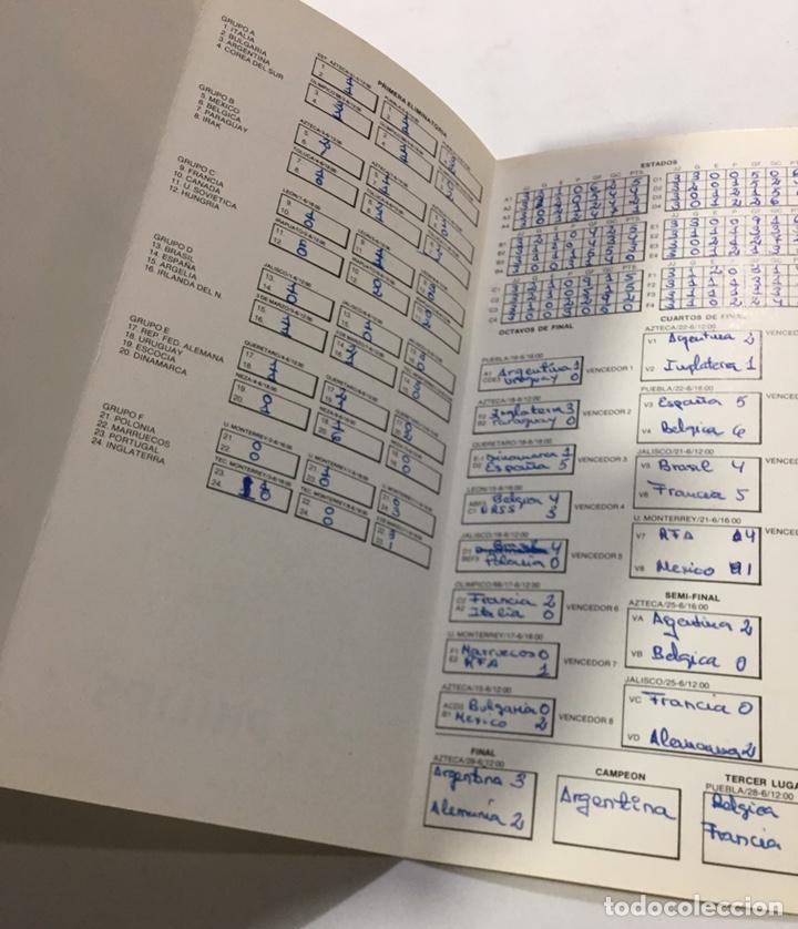Coleccionismo deportivo: Calendario del mundial de fútbol Mexico 86 de philips - Foto 4 - 136069165