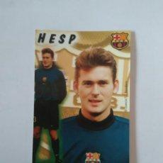 Coleccionismo deportivo: CALENDARIO DE BOLSILLO F.C. BARCELONA 99-00, BARÇA 1999-2000, AÑO 2000: RUUD HESP. Lote 140622726