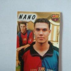 Coleccionismo deportivo: CALENDARIO DE BOLSILLO F.C. BARCELONA 99-00, BARÇA 1999-2000 AÑO 2000: NANO MACEDO. Lote 140623590