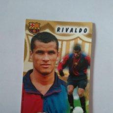 Coleccionismo deportivo: CALENDARIO DE BOLSILLO F.C. BARCELONA 99-00, BARÇA 1999-2000 AÑO 2000: RIVALDO. Lote 140624274
