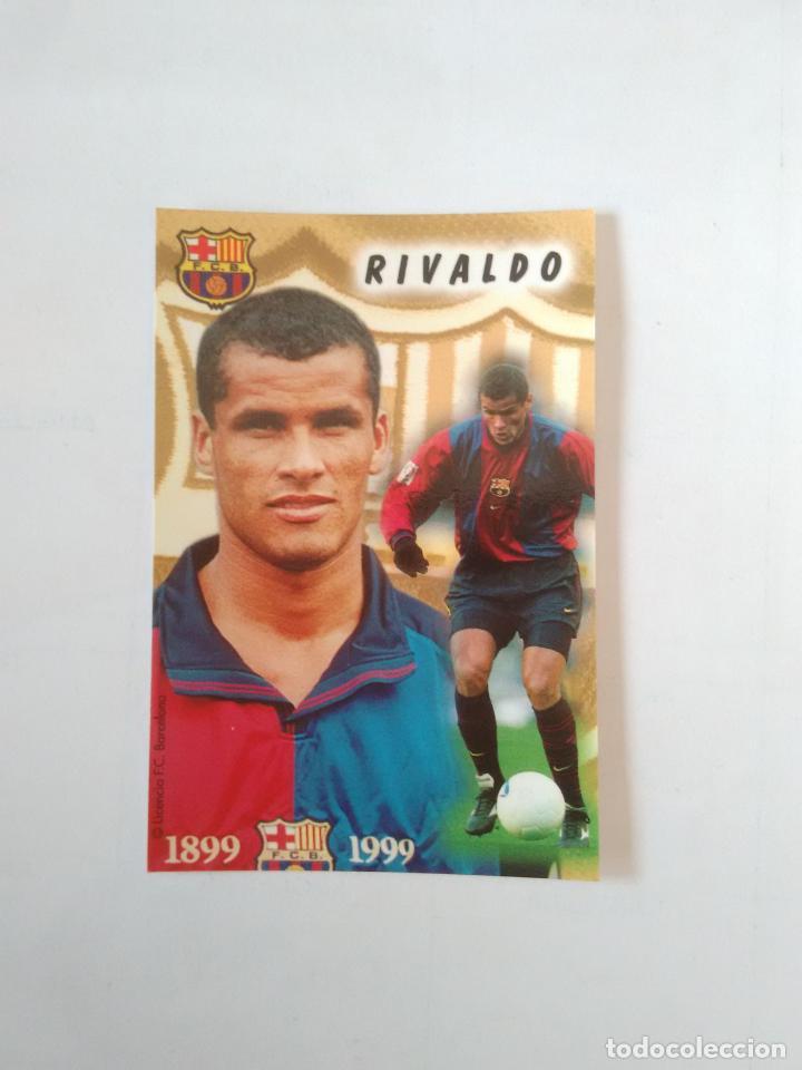 CALENDARIO DE BOLSILLO F.C. BARCELONA 99-00, BARÇA 1999-2000 AÑO 2000: RIVALDO (Coleccionismo Deportivo - Documentos de Deportes - Calendarios)