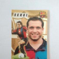 Coleccionismo deportivo: CALENDARIO DE BOLSILLO F.C. BARCELONA 99-00, BARÇA 1999-2000 AÑO 2000: SERGI BARJUAN. Lote 140627054