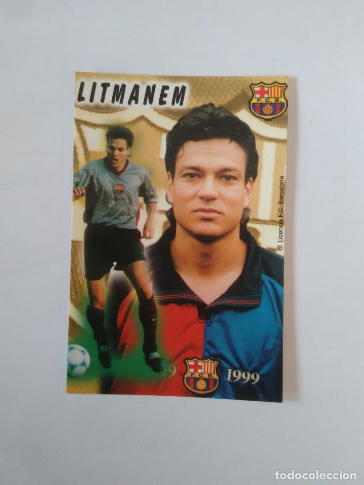 CALENDARIO DE BOLSILLO F.C. BARCELONA 99-00, BARÇA 1999-2000 AÑO 2000: JARI LITMANEN (Coleccionismo Deportivo - Documentos de Deportes - Calendarios)
