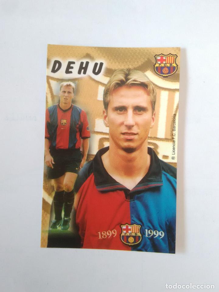 CALENDARIO DE BOLSILLO F.C. BARCELONA 99-00, BARÇA 1999-2000 AÑO 2000: FREDERIC DEHU (Coleccionismo Deportivo - Documentos de Deportes - Calendarios)