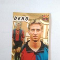 Coleccionismo deportivo: CALENDARIO DE BOLSILLO F.C. BARCELONA 99-00, BARÇA 1999-2000 AÑO 2000: FREDERIC DEHU. Lote 140633554