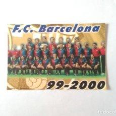 Coleccionismo deportivo: CALENDARIO DE BOLSILLO F.C. BARCELONA 99-00, BARÇA 1999-2000 AÑO 2000: XAVI GUARDIOLA FIGO RIVALDO... Lote 140639346