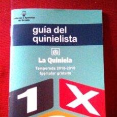 Coleccionismo deportivo: GUÍA DEL QUINIELISTA. 2018-2019. Lote 141027362