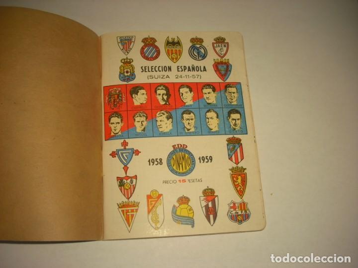 ANUARIO DINAMICO , SELECCION ESPAÑOLA 1958-1959 (Coleccionismo Deportivo - Documentos de Deportes - Calendarios)