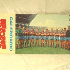 Coleccionismo deportivo: CALENDARIO DEPORTE 1970 FUTBÓL CLUB BARCELONA, COMPLETO. Lote 141688746