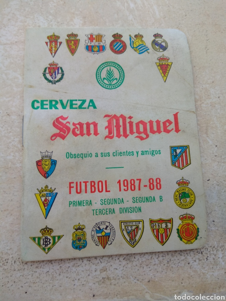 CALENDARIO FÚTBOL LIGA 1987 - 1988 CERVEZA SAN MIGUEL - ALBORAYA VALENCIA - RARO - (Coleccionismo Deportivo - Documentos de Deportes - Calendarios)
