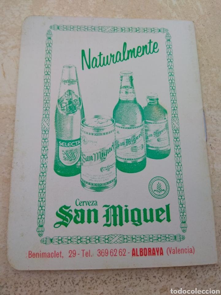 Coleccionismo deportivo: Calendario Fútbol Liga 1987 - 1988 Cerveza San Miguel - Alboraya Valencia - Raro - - Foto 2 - 141789572