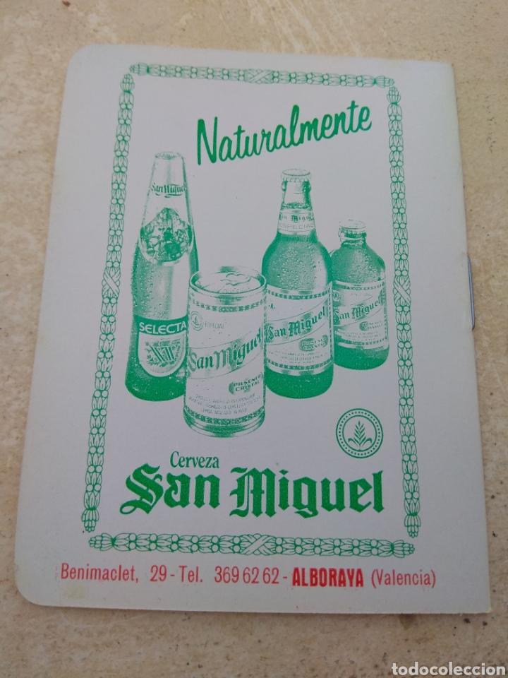 Coleccionismo deportivo: Calendario Fútbol Liga 1987 - 1988 Cerveza San Miguel - Alboraya Valencia - Raro - - Foto 2 - 141789949