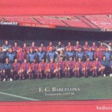 Coleccionismo deportivo: CALENDARIO PLASTIFICADO AÑO 1998,F.C.BARCELONA TEMPORADA 1997-98, VER FOTOS. Lote 142253230
