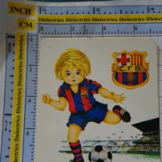 Coleccionismo deportivo: CALENDARIO DE BOLSILLO. AÑO 1974. FÚTBOL. FC BARCELONA. PUBLICIDAD MÁLAGA. Lote 142343206
