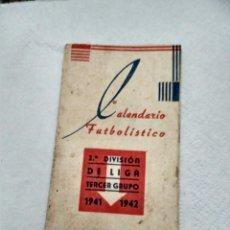 Coleccionismo deportivo: CALENDARIO FUTBOLISTICO 1941-42 TRIPTICO IMPRENTA REPETO CADIZ. Lote 142863970