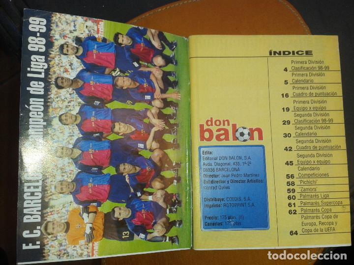 Coleccionismo deportivo: CALENDARIO FUTBOL. TEMPORADA 99/2000. DON BALON - Foto 2 - 143105446