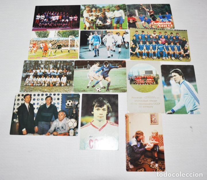LOTE 12 CALENDARIOS DE BOLSILLO . FUTBOL SOVIETICO.1987-91A.URSS (Coleccionismo Deportivo - Documentos de Deportes - Calendarios)