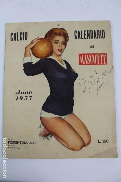 PR- 253. CALCIO CALENDARIO DI MASCOTTE ANNO 1957. ROMA. (Coleccionismo Deportivo - Documentos de Deportes - Calendarios)