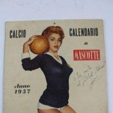 Coleccionismo deportivo: PR- 253. CALCIO CALENDARIO DI MASCOTTE ANNO 1957. ROMA.. Lote 146117090