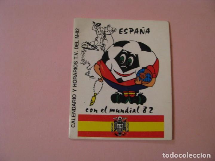 CALENDARIO Y HORARIOS T.V. DEL MUNDIAL 82. PUBL. CAFE ESTACION MARITIMA, MELILLA. ESCRITA. (Coleccionismo Deportivo - Documentos de Deportes - Calendarios)