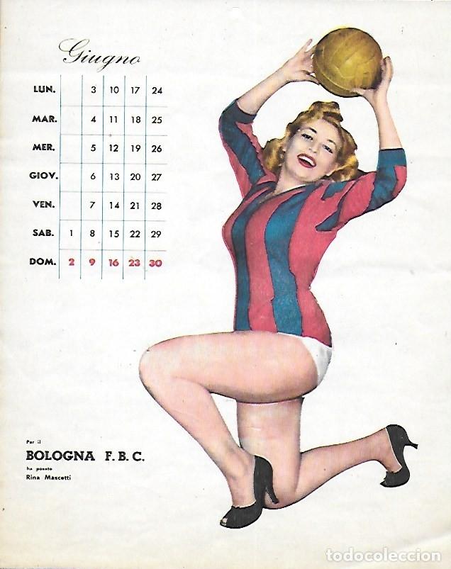 Coleccionismo deportivo: PR- 253. CALCIO CALENDARIO DI MASCOTTE ANNO 1957. ROMA. - Foto 7 - 146117090
