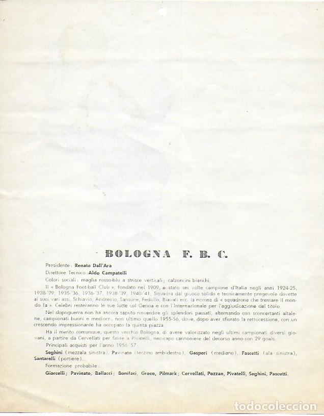 Coleccionismo deportivo: PR- 253. CALCIO CALENDARIO DI MASCOTTE ANNO 1957. ROMA. - Foto 8 - 146117090