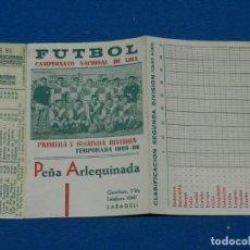 Coleccionismo deportivo: CD SABADELL - CALENDARIO CAMPEONATO NACIONAL DE LIGA 1965 - 66 , DESPLEGABLE, SEÑALES DE USO NORMAL. Lote 147067210