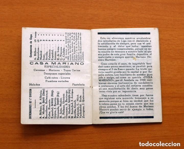 Coleccionismo deportivo: Calendario de Liga 1957-1958, 57-58 - Bar Casa Mariano - Madrid - Foto 2 - 147337870