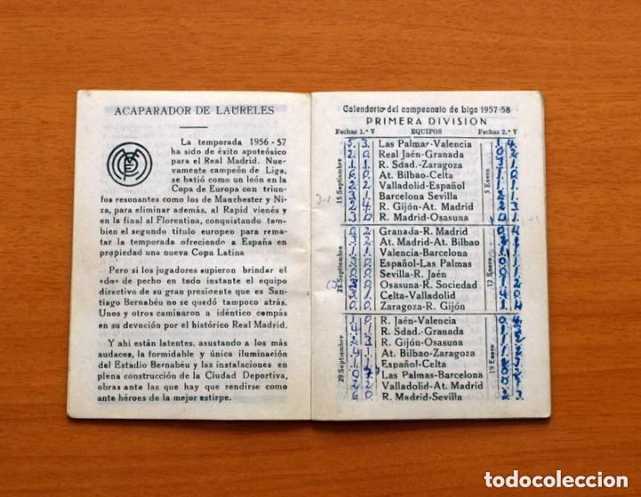 Coleccionismo deportivo: Calendario de Liga 1957-1958, 57-58 - Bar Casa Mariano - Madrid - Foto 3 - 147337870