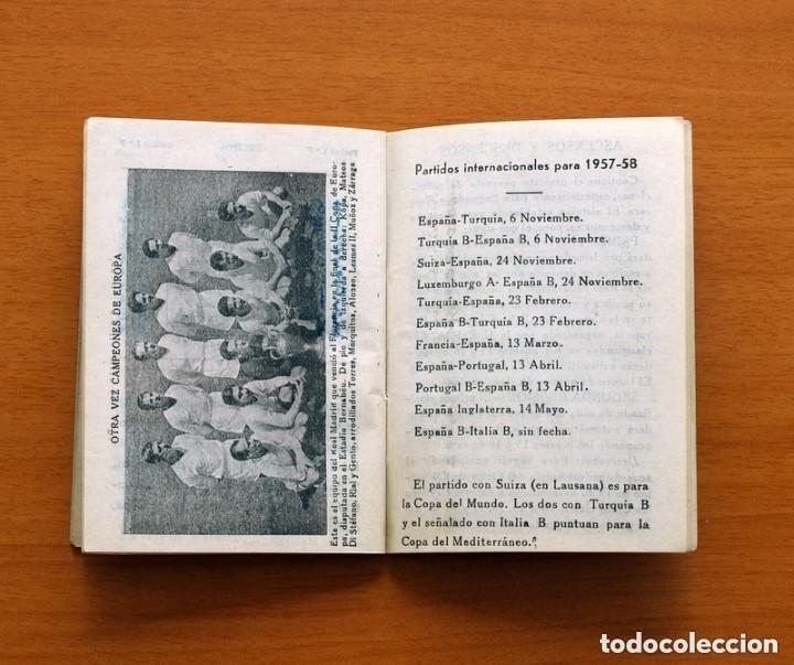 Coleccionismo deportivo: Calendario de Liga 1957-1958, 57-58 - Bar Casa Mariano - Madrid - Foto 5 - 147337870