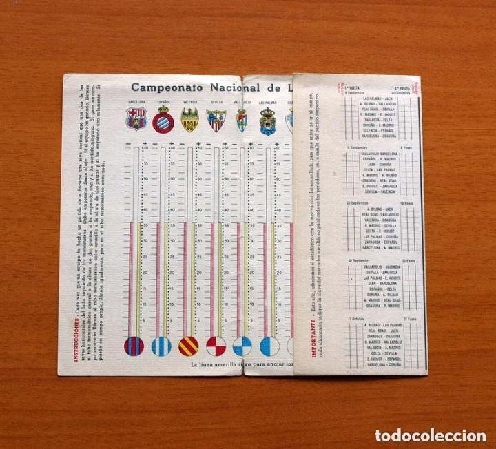 Coleccionismo deportivo: Ceregumil - FÚTBOL - Calendario de liga 1956-1957, 56-57 de primera división - Foto 2 - 147338986