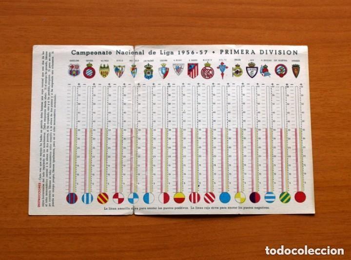 Coleccionismo deportivo: Ceregumil - FÚTBOL - Calendario de liga 1956-1957, 56-57 de primera división - Foto 3 - 147338986
