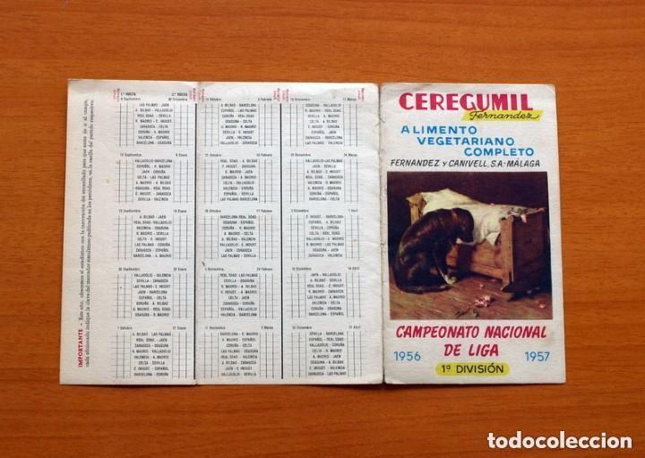 Coleccionismo deportivo: Ceregumil - FÚTBOL - Calendario de liga 1956-1957, 56-57 de primera división - Foto 4 - 147338986