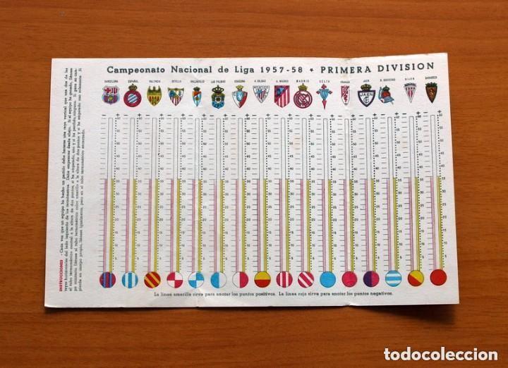 Coleccionismo deportivo: Ceregumil - FUTBOL - Calendario de liga 1957-1958, 57-58 de primera división - Foto 3 - 147339206