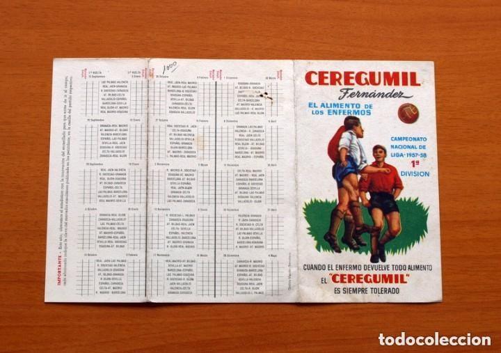 Coleccionismo deportivo: Ceregumil - FUTBOL - Calendario de liga 1957-1958, 57-58 de primera división - Foto 4 - 147339206